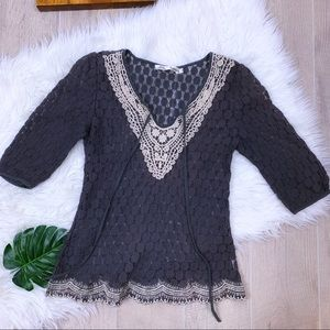{Solitaire} Flower Lace Boho Top*2214